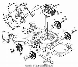 Poulan Pp730sja Mower Parts Diagram For Mower Assembly B  S