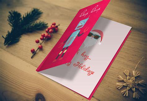 greeting card mockup photoshop psd template display