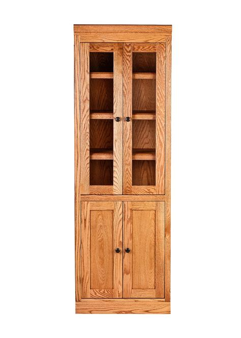 Mission Bookcase Glass Doors by Forest Designs Mission Bookcase W Doors 24w X 18d X