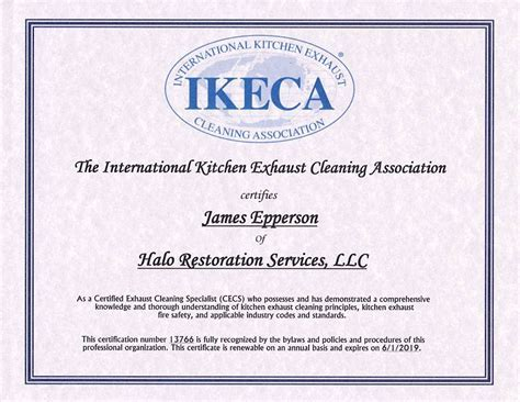 HRS Leader Certified by International Kitchen Exhaust
