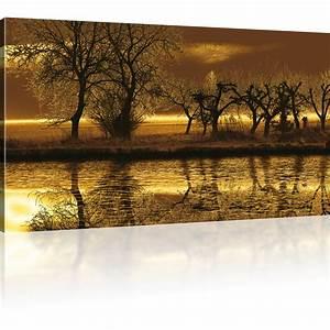 Dreiteilige Bilder Auf Leinwand : bilder landschaft wandbild auf leinwand baum leinwandbild ebay ~ Orissabook.com Haus und Dekorationen