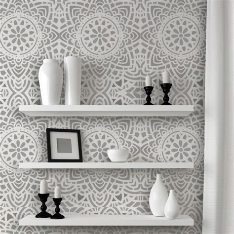 wall lace decorative stencil madalyn allover reusable for diy wall decor j boutique stencils