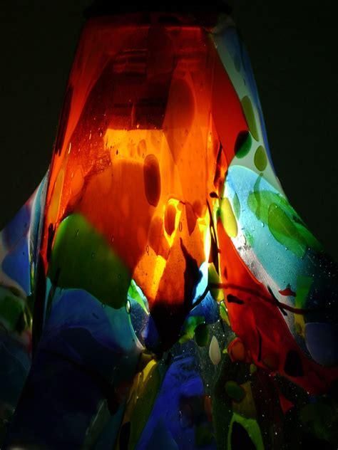 colorful fused glass pendant light designer glass mosaics