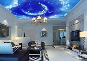 3d Effect Outer Space Wall Mural Wallpapers For Bedroom ...