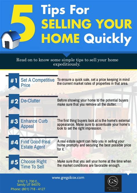 Design Tips For Selling Your Home by 5 Tips For Selling Your Home Quickly