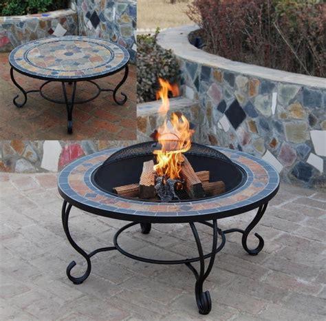 java mosaic firepits garden bbq table astove