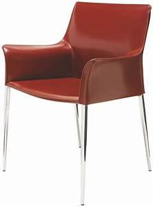 Colter Bordeaux Leather Dining Arm Chair From Nuevo