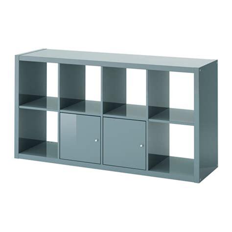 Meuble Casier Metal Ikea by Kallax Shelving Unit With Doors High Gloss Gray