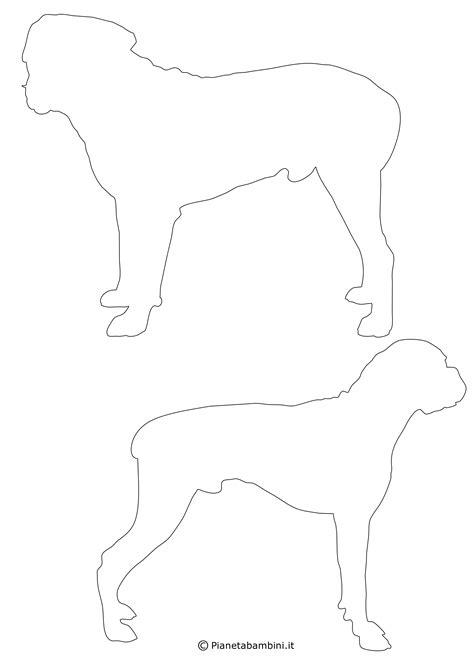 sagome  cani da stampare colorare  ritagliare