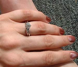 plain wedding band or diamond wedding band show me the With plain engagement ring with diamond wedding band