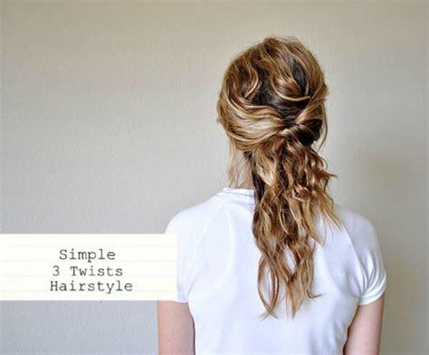 easy twist styles for hair 3 simple twists the prettiest half up half 8131