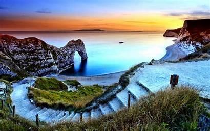 Door Dorset England Durdle Coast Arches