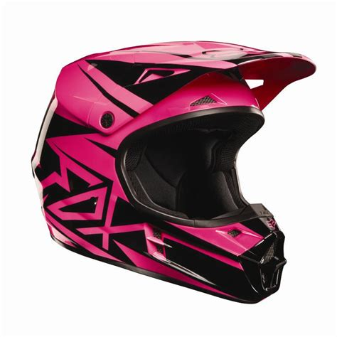 pink motocross helmets fox racing v1 costa youth helmet black pink motocross all