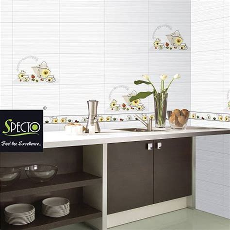 kitchen white  ivory wall tiles specto nobel wall