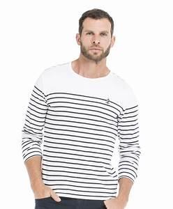 T Shirt Mariniere Homme : tee shirt marini re homme blanc ray marine t shirt mode ~ Melissatoandfro.com Idées de Décoration