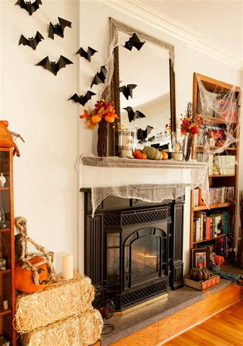 ideas  halloween decorations fireplace  mantel