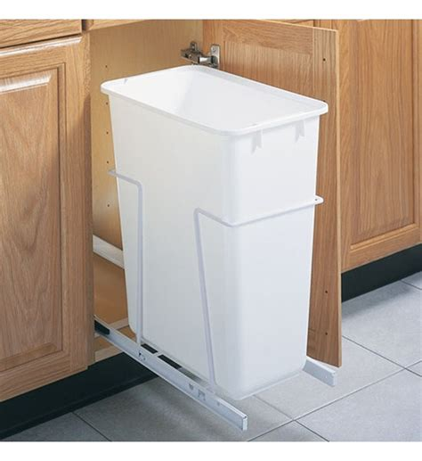 cabinet trash can slider 50 quart sliding kitchen cabinet wastebasket