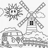 Coloring Wild Printable Sun Windmill Preschool Camping Clip Holiday Crafts Activities Hippy Vw Festival Clipart Colouring Library sketch template