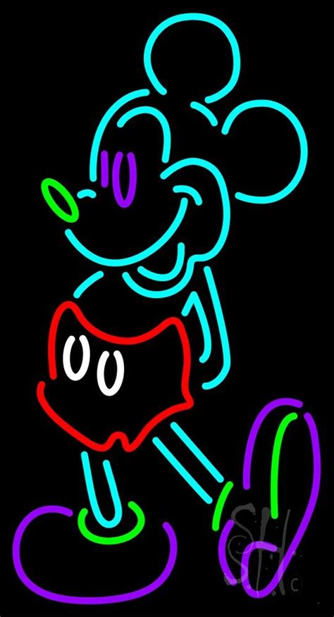 mickey mouse neon flex sign cartoon character neon signs