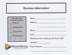 miamisburg christian church With decision card template