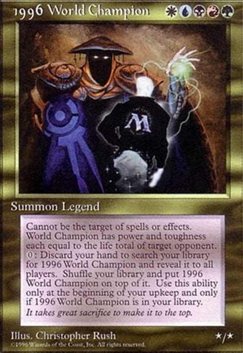 Edh Decks By Tier by 1996 World Chion Psg Mtg Card