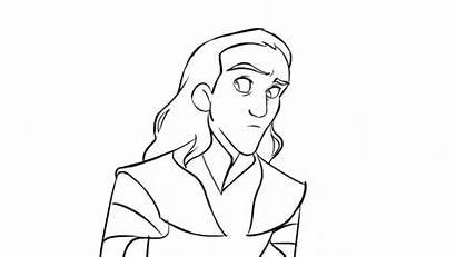 Thor Drawing Ragnarok Tired Loki Animation Drawings