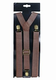 Faux Leather Suspenders