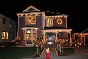 Festivals, Pictures, Pictures, Christmas, Lights, Houses, White, House, Christmas, Tree, Lighting