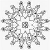 Mandala Coloring Dots Patterns sketch template