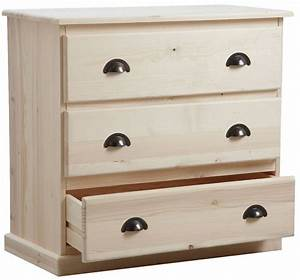 Commode En Bois : commode 5 tiroirs en bois brut ~ Teatrodelosmanantiales.com Idées de Décoration
