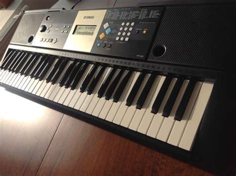 yamaha ypt 220 yamaha ypt 220 keyboard with 61 375 sounds portable