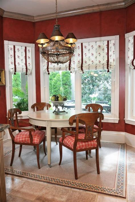 deep red victorian style breakfast nook hgtv
