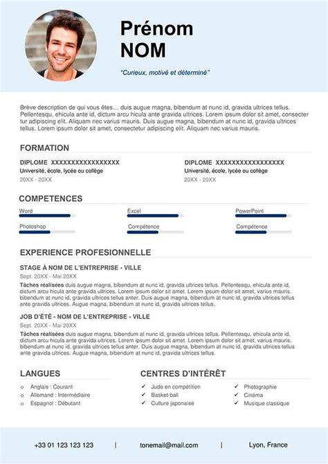 Cv étudiant by Exemple De Cv Pour 201 Tudiant Gratuit 224 T 233 L 233 Charger Cv