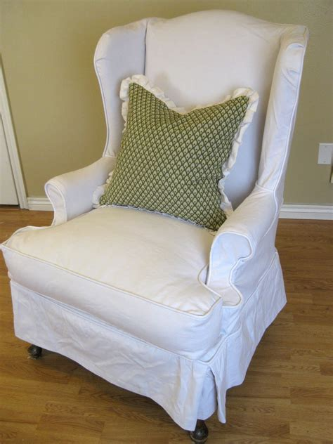 pattern for chair slipcover white linen wingback slipcover with green pattern cushions