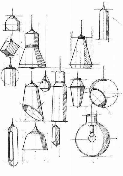 Sketch Sketches Industrial Lamp Drawing Lamps 3d