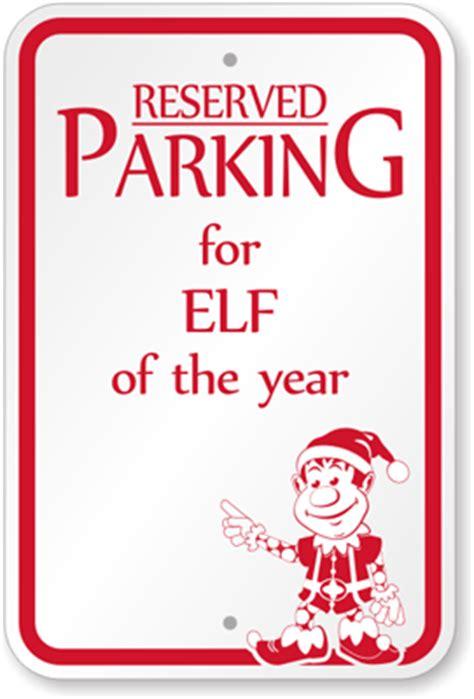 christmas parking signs funny santa parking signs