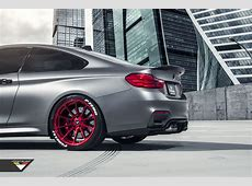 Frozen Gray BMW M4 With Candy Apple Red Wheels