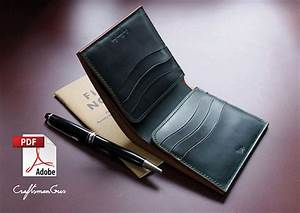 Leather Wallet Pattern  Pdf Files   Bifold Wallet  With