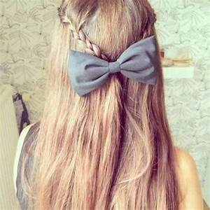 Top 50 Cute Girly Hairstyles with Bows | Beauty Tips, Hair ...
