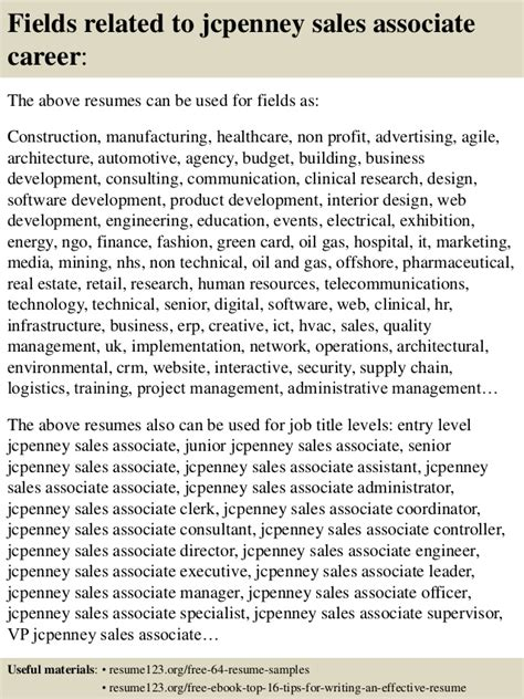 Top Resume Sles by Top 8 Jcpenney Sales Associate Resume Sles