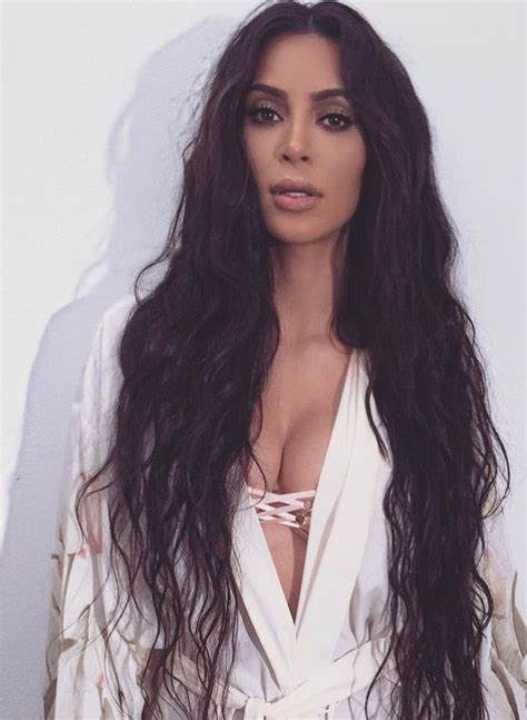 KKW glam.   Hair styles, Celebrity hairstyles red carpet ...