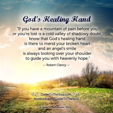 gods healing hand inspirational quote www
