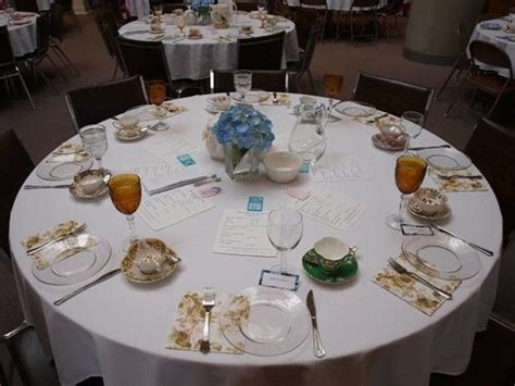 tea party table settings ideas mothers day church banquet blue hydrangea tea party