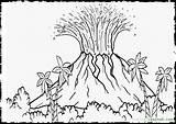 Volcano Coloring Pages Hawaii Island Drawing Landscape Printable Dinosaur Colour Sheets Colouring Vulcano Hawaiian Eruption Dinosaurs Activity Mclaren Template Biology sketch template
