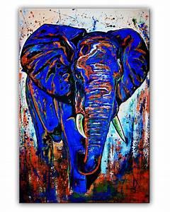Erotische Kunst Bilder : burgstaller original gem lde kunst bilder abstrakt malerei b ro blau elefant ebay ~ Sanjose-hotels-ca.com Haus und Dekorationen