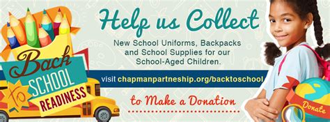 "Back To School 2015 Chapman Partnership Initiative Ensures ""school Readiness From Day One"" For"