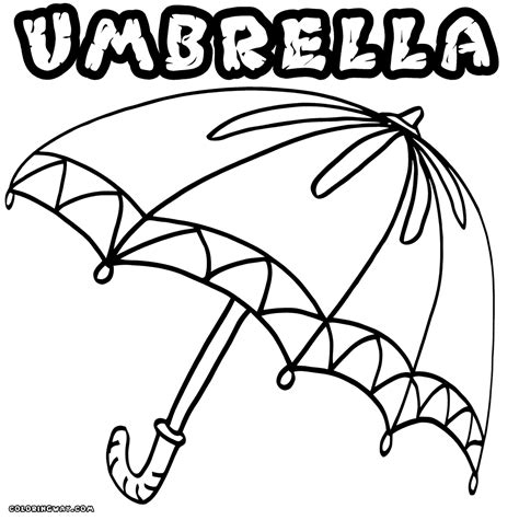umbrella coloring pages coloring pages    print