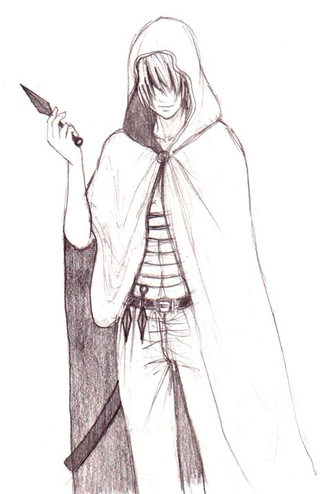 Drawn Hood Hooded Character Pencil And In Color Drawn