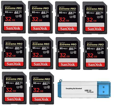 Shop ebay for great deals on sandisk extreme pro sd card. SanDisk 32GB (Ten Pack) SD HC Extreme Pro Memory Card for Digital DSLR Camera SDHC 4K V30 UHS-I ...