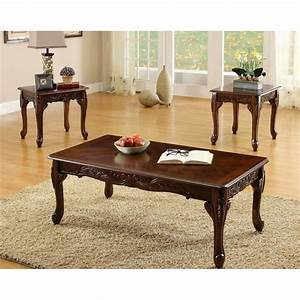 furniture of america winslow 3 piece coffee table set With cherry wood coffee table sets